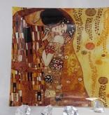CARMANI - 1990 Gustav Klimt  Der Kuss hell  - Platzteller -  25 x 25 cm
