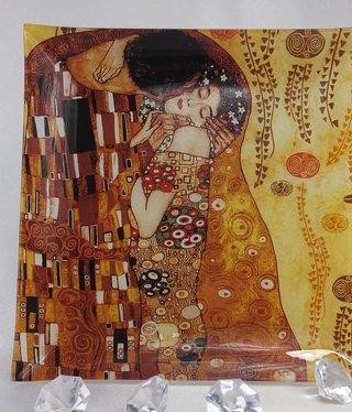 CARMANI - 1990 Gustav Klimt - Der Kuss hell  Glasteller