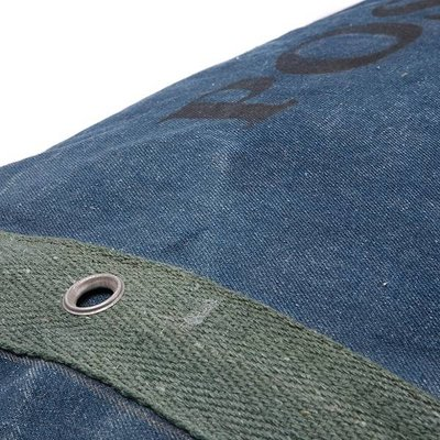 Lex & Max Hondenkussen Hoes Vintage 100 x 70 cm Denim/Stripe