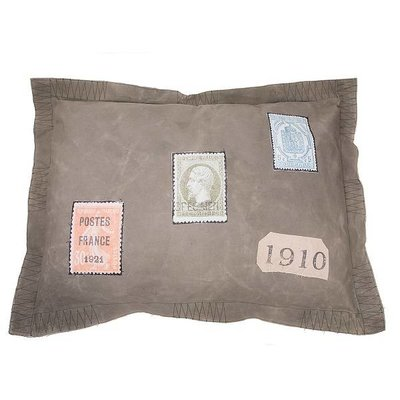 Lex & Max Hondenkussen Hoes Vintage 100 x 70 cm Postzegel