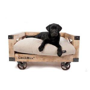 Lex & Max Hondenbank Houten Divan Small