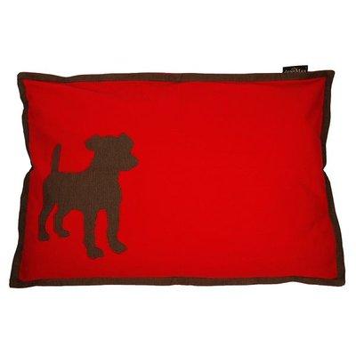 Lex & Max Hondenkussen Dog Rood