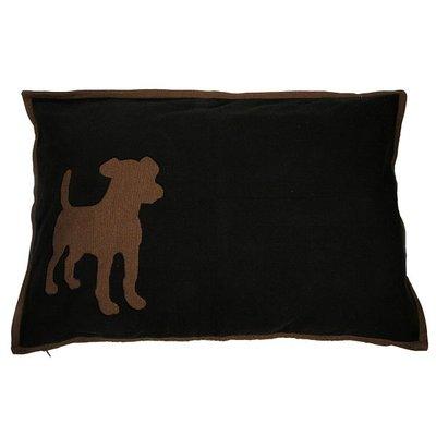 Lex & Max Hondenkussen Dog Zwart