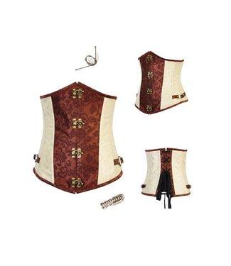 Beige/bruin underbust corset