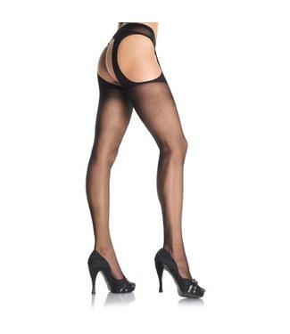 Leg Avenue Jarretel panty (zwart)