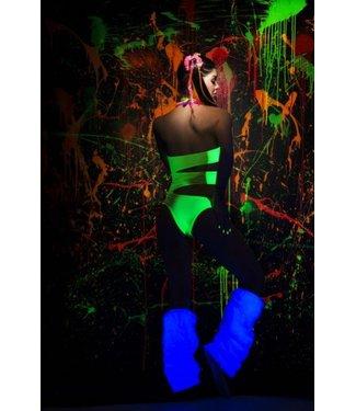 Blacklight bodysuit neon green