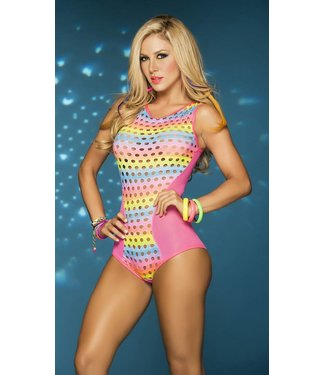 Blacklight bodysuit neon pink