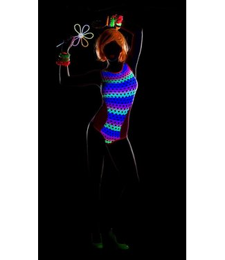 Blacklight bodysuit neon pink