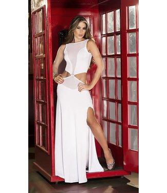 Espiral Lingerie Elegante witte lange jurk