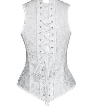 Gebroken wit corset gilet