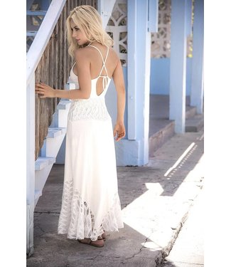 Mapalé Lange jurk (ivoor)