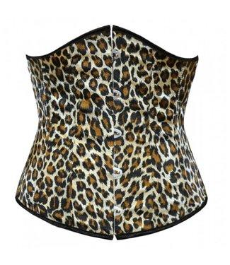 Underbust corset met luipaardprint