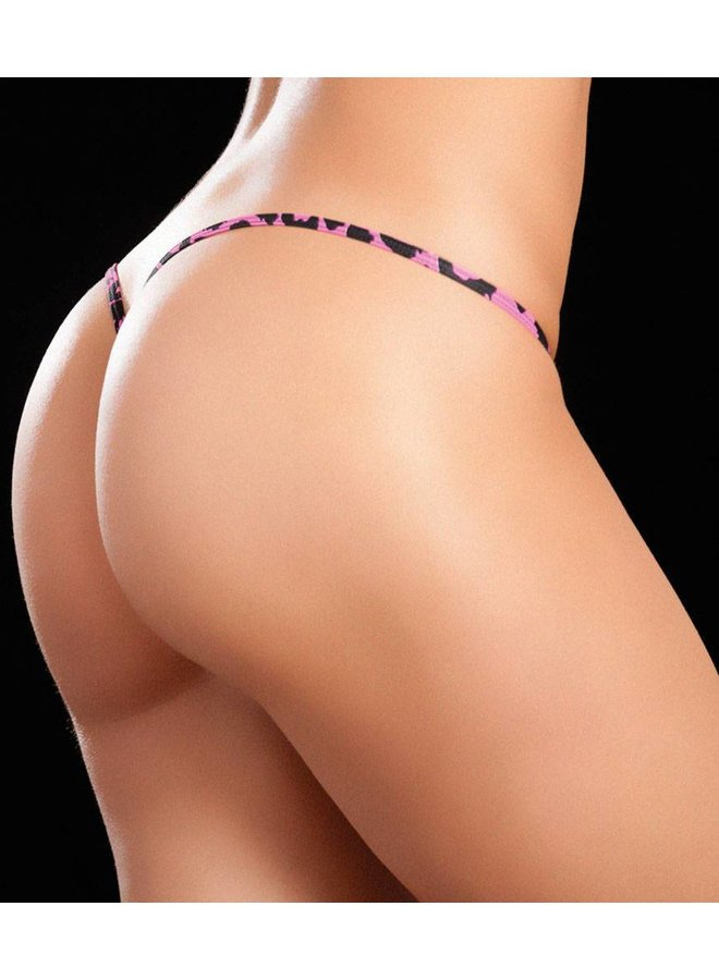 Clip Y-back string (pink tiger)