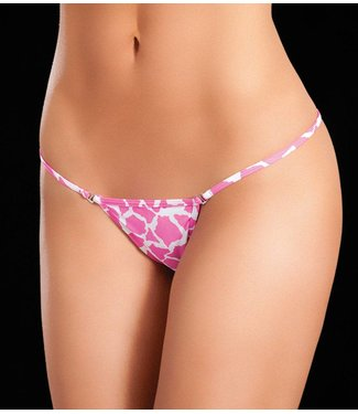 Clip Y-back string (animal pink)
