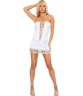 Roma Costume Rokje + top (wit/zilver)