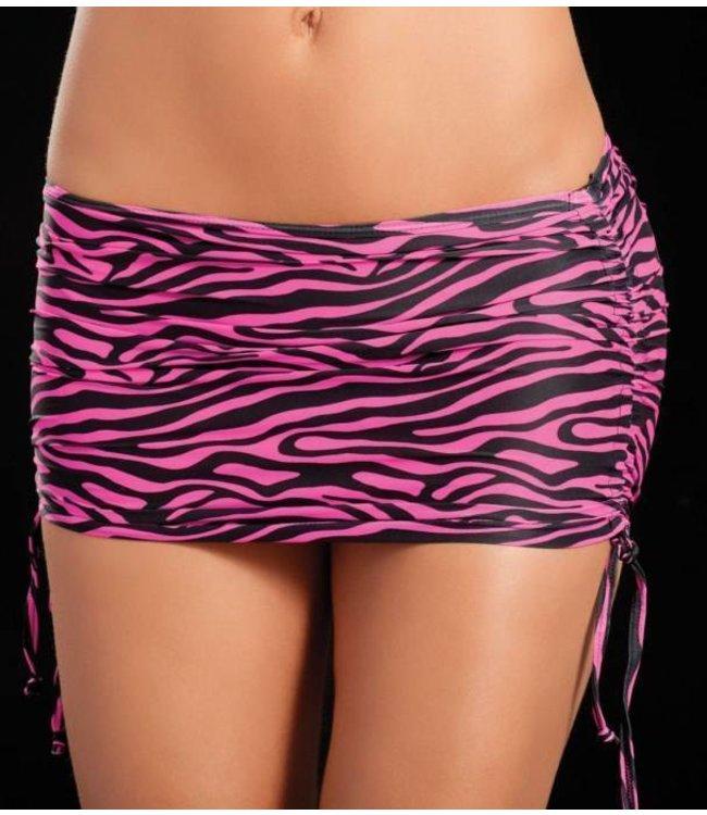 Verstelbaar rokje (zebra pink)