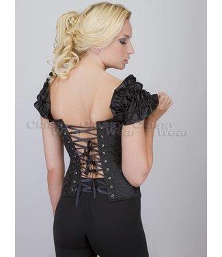 Corsetten Zwart corset met motief en strikjes