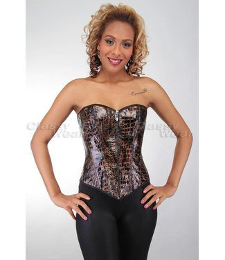 Overbust corset met dierenprint