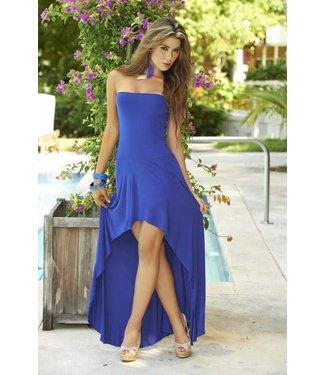 Strapless jurk/rok blauw