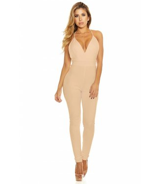 Forplay Nude strakke jumpsuit