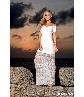 Lange jurk kant wit