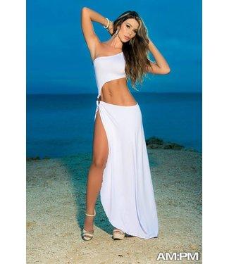 Lange strandjurk wit