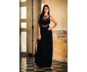 Fonkelnieuw Sexy zwarte lange rok met split - ClassyWear RU-98