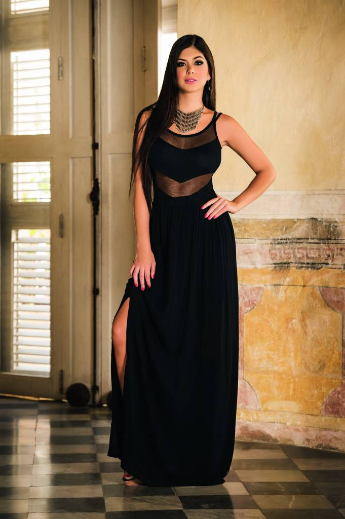 Hedendaags Sexy zwarte lange rok met split - ClassyWear TQ-46