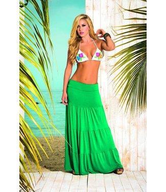 Groene lange rok