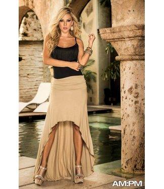Strapless jurk/rok mokka