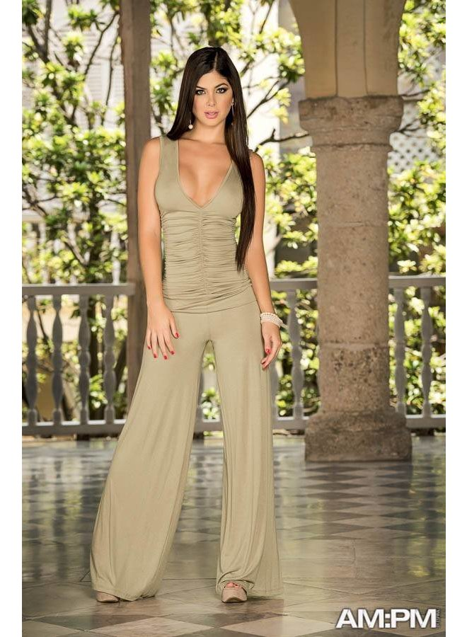 Sexy mocca jumpsuit