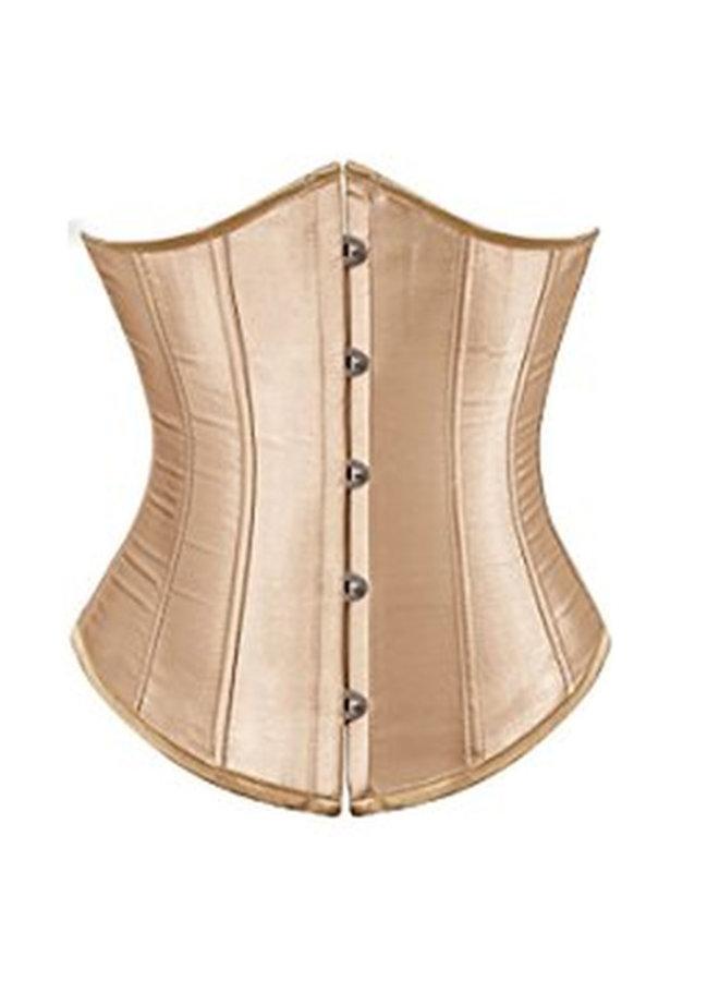 Goudkleurig underbust corset