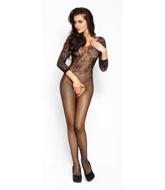 Passion Zwarte bodystocking lange mouw
