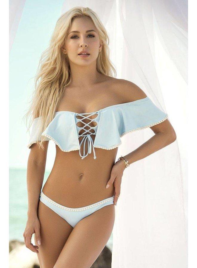 Lichtblauwe string bikini