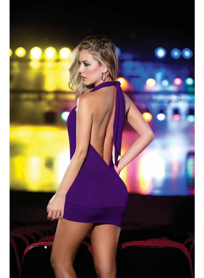 Sexy paars waterval jurkje