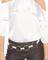 Top met open schouders (wit)