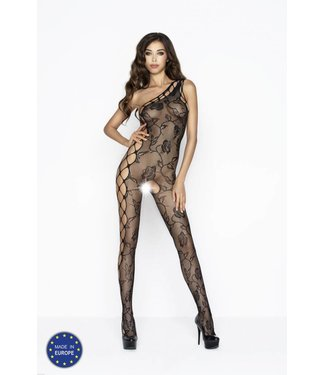 Passion One shoulder bodystocking (zwart)