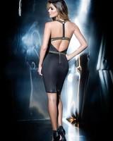 Mapalé Zwart jurkje met gouden details