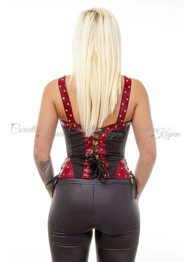 Zwart/rood corset