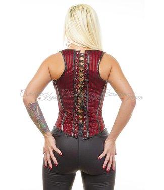 Gestreept corset gilet