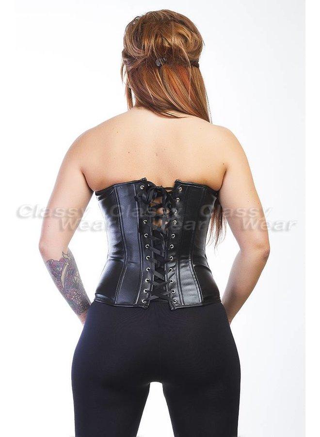 Zilver strapless corset met ritssluiting