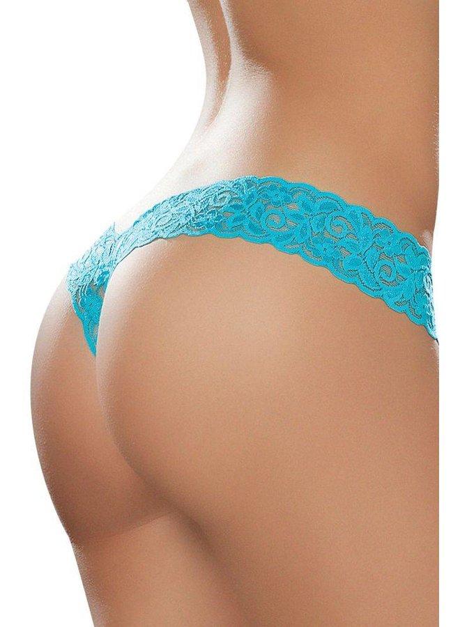 Sexy kanten string (turquoise)