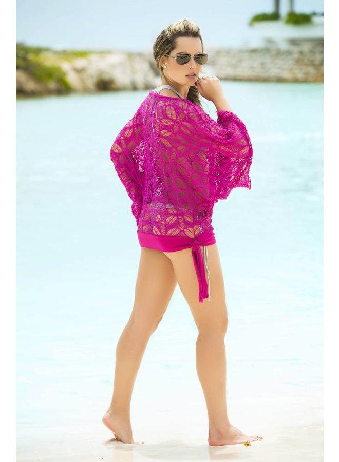 Roze strandtop