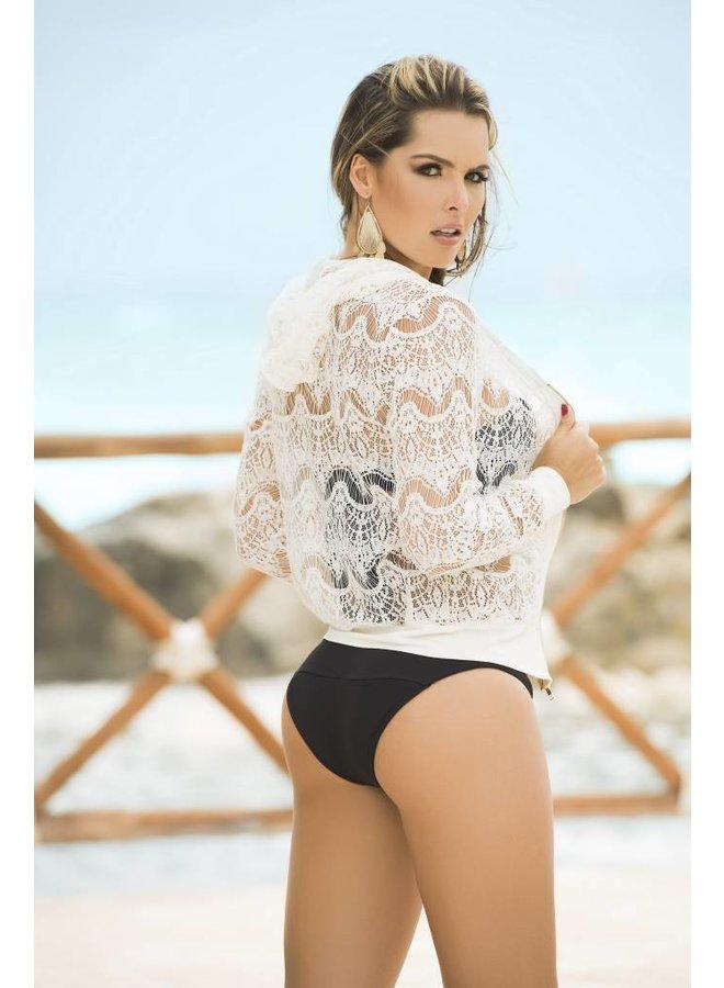 Beach hoodie ivoorkleurig