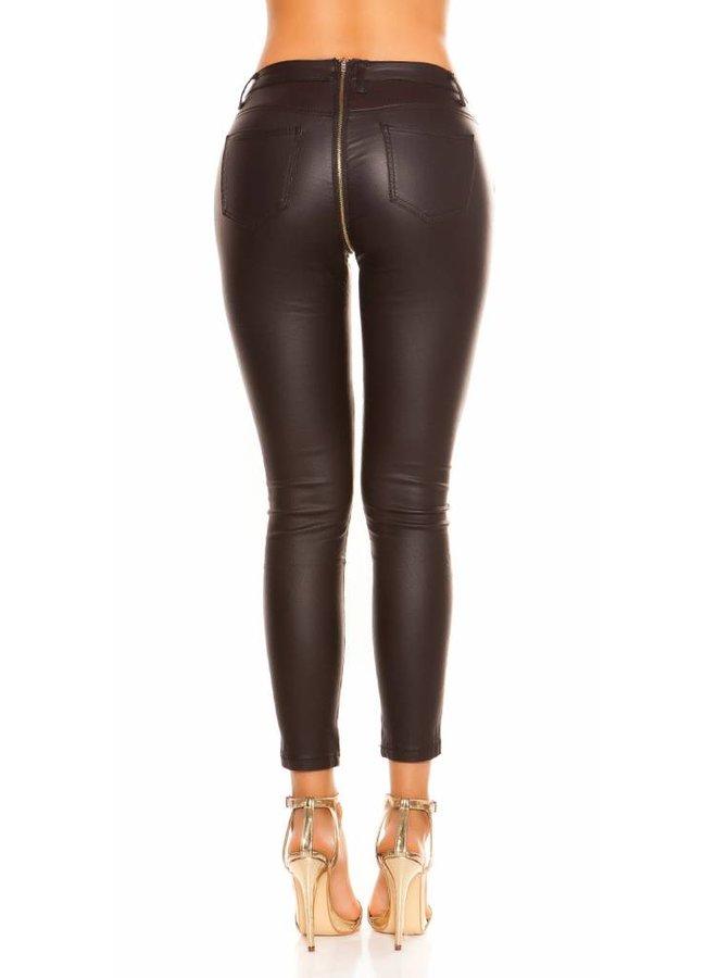Zwarte broek met doorlopende rits