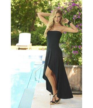 Strapless jurk/rok zwart
