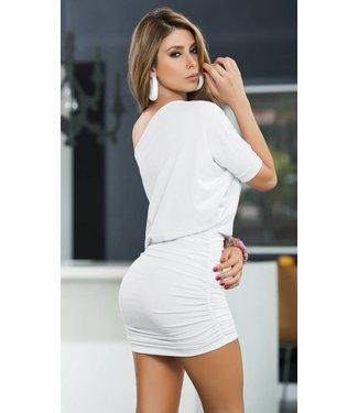 Espiral Lingerie Wit gerimpeld jurkje