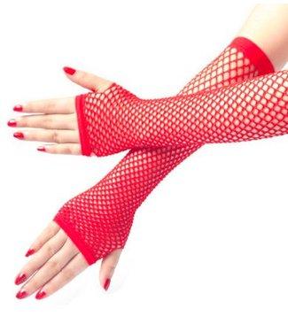 Rode visnet handschoenen