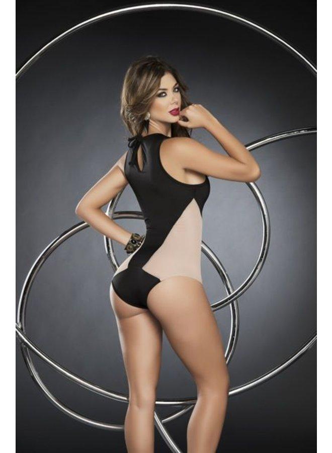 Bodysuit zwart/nude