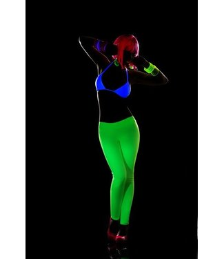 Blacklight legging (geel)